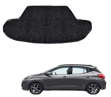 Picture of Curly Custom Fitted Car Trunk Mat for Hyundai Grand i10 NIOS 2019 - Black