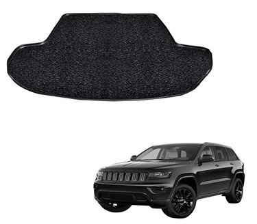 Picture of Curly Custom Fitted Car Trunk Mat for Jeep grand Cherokee 2019 - Black