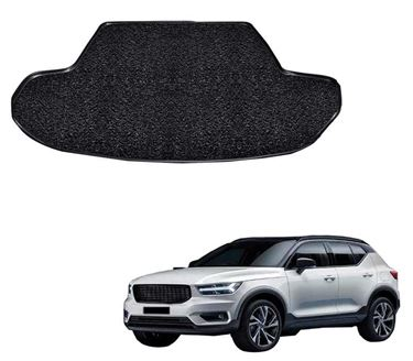 Picture of Curly Custom Fitted Car Trunk Mat for Volvo XC40 2019 - Black