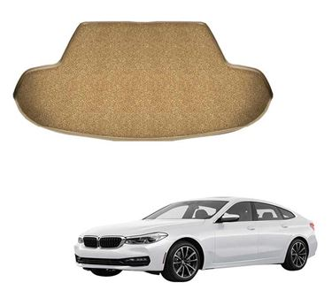 Picture of Curly Custom Fitted Car Trunk Base Mat for BMW GT 630i - Beige