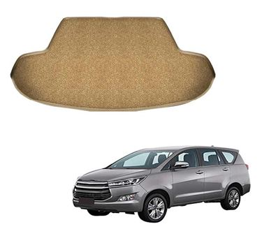 Picture of Curly Custom Fitted Car Trunk Base Mat for Toyota Innova Crysta - Beige