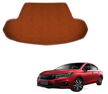 Picture of Curly Custom Fitted Car Trunk Base Mat for Honda City 2020 - Tan