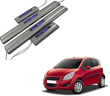 Picture of Car Door Sill Scuff Plate Foot Step for Maruti Ritz Blue LED