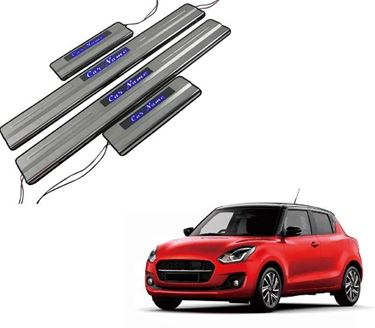 Picture of Car Door Sill Scuff Plate Foot Step for Maruti Swift Blue LED