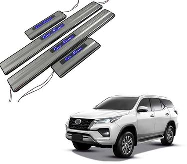 Picture of Car Door Sill Scuff Plate Foot Step for Toyota Fortuner Blue LED