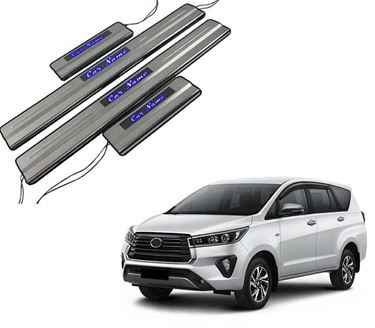 Picture of Car Door Sill Scuff Plate Foot Step for Toyota Innova Blue LED