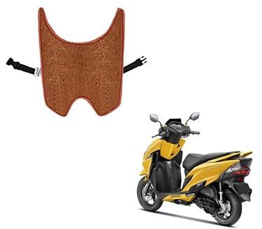 Picture of Anti Skid Curly Scooter/Scooty Foot Mats (Tan) for Honda Grazia