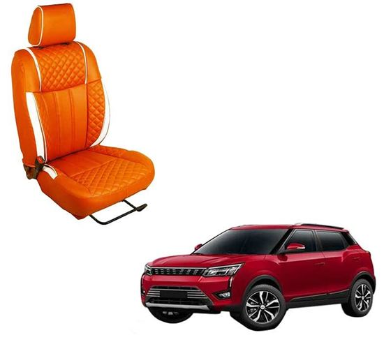 Picture of (HT-508 Squar) Mahindra XUV300 2019 3D Custom PU Leather Car Seat Covers