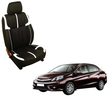 Picture of (HT-509 Crypto) Honda Amaze 2013-14 3D Custom PU Leather Car Seat Covers