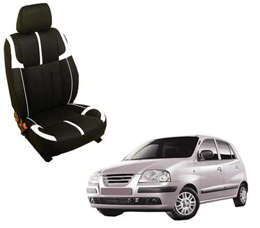 Picture of (HT-509 Crypto) Hyundai Old Santro 3D Custom PU Leather Car Seat Covers