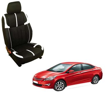 Picture of (HT-509 Crypto) Hyundai Old Verna Fluidic 3D Custom PU Leather Car Seat Covers
