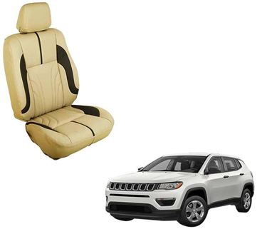 Picture of (HT-511 Sober) Jeep Compass 3D Custom PU Leather Car Seat Covers