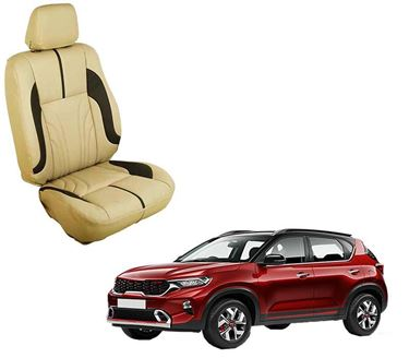 Picture of (HT-511 Sober) KIA Sonet 2020 3D Custom PU Leather Car Seat Covers