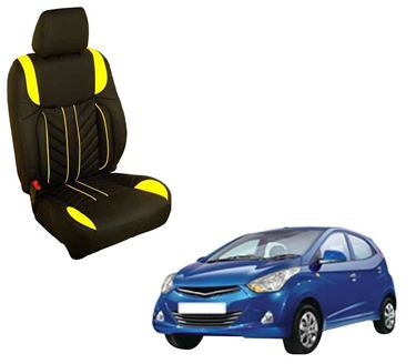 Picture of (HT-512 Flame) Hyundai Eon (2013-14) 3D Custom PU Leather Car Seat Covers