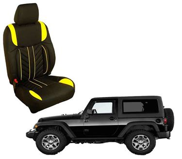 Picture of (HT-512 Flame) Mahindra Thar 2020 3D Custom PU Leather Car Seat Covers