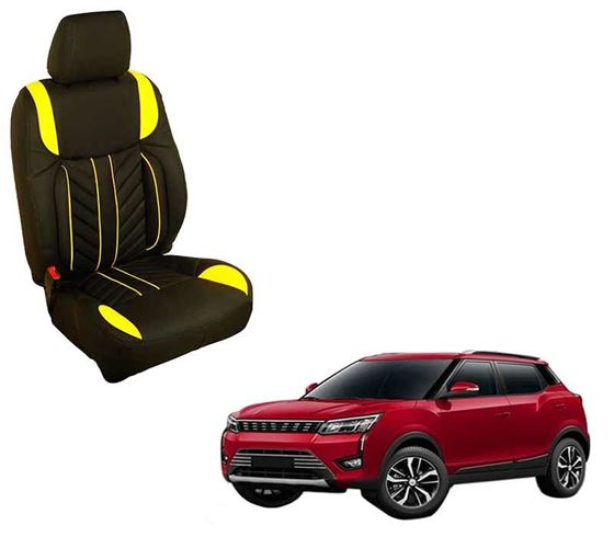 Picture of (HT-512 Flame) Mahindra XUV300 2019 3D Custom PU Leather Car Seat Covers