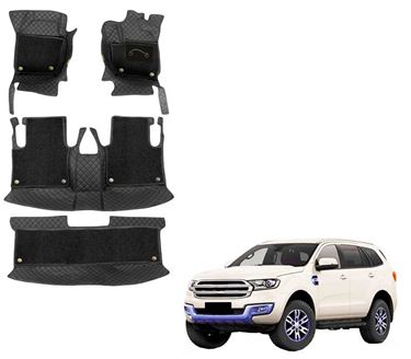 Picture of 7D Luxury Custom Fitted Car Mats For Ford Endeavour - Black