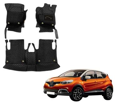 Picture of 7D Luxury Custom Fitted Car Mats For Renault Captur 2019 - Black