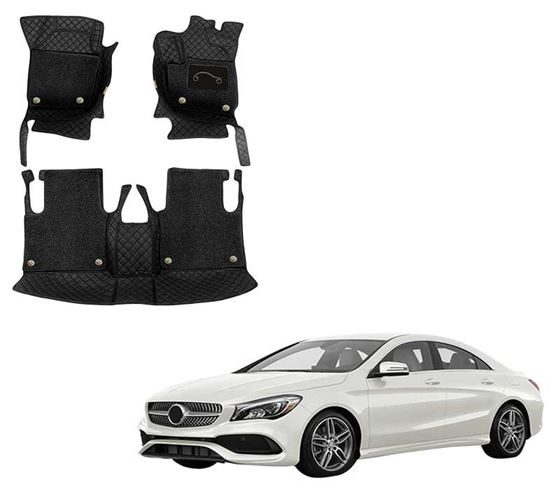 Picture of ULS 7D Economy Custom Fitted Car Mats For Mercedes CLA - Black