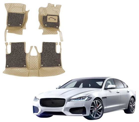 Picture of ULS 7D Economy Custom Fitted Car Mats For Jaguar XF 2018 - Beige