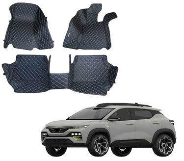 Picture of 5D Premium Custom Fitted Car Mats For Renault Kiger 2021 - Black