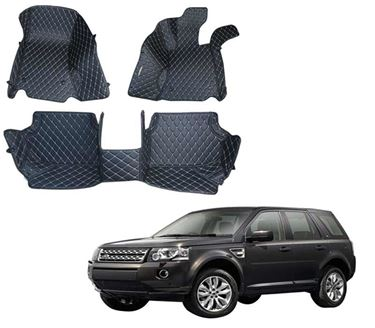 Picture of 5D Premium Custom Fitted Car Mats For Land Rover Freelander 2 2013 - Black