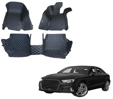 Picture of 5D Premium Custom Fitted Car Mats For Audi A3 2017 - Black