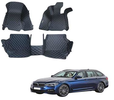 Picture of 5D Premium Custom Fitted Car Mats For BMW 520d - Black