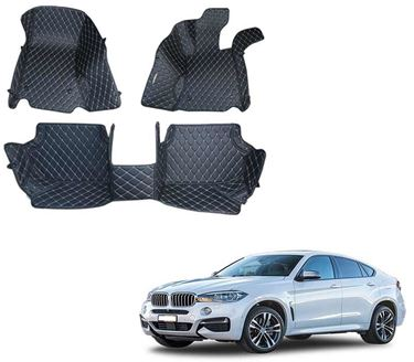 Picture of 5D Premium Custom Fitted Car Mats For BMW X6 2012 - Black