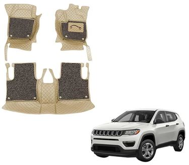 Picture of 7D Luxury Custom Fitted Car Mats For Jeep Compass - Beige