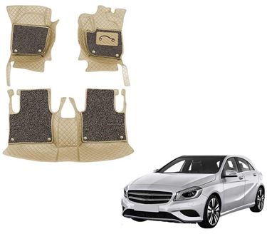 Picture of 7D Luxury Custom Fitted Car Mats For Mercedes A180 - Beige