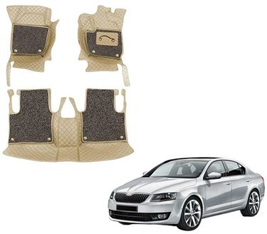 Picture of 7D Luxury Custom Fitted Car Mats For Skoda Octavia Old - Beige