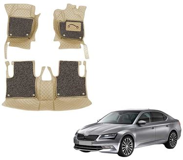 Picture of 7D Luxury Custom Fitted Car Mats For Skoda Superb 2015 - Beige