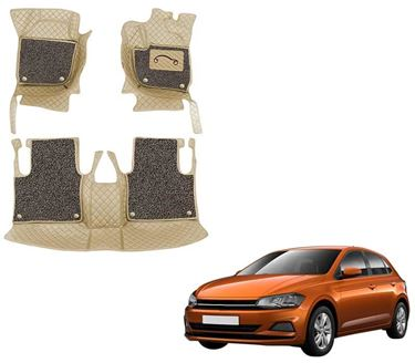 Picture of 7D Luxury Custom Fitted Car Mats For Volkswagen Polo - Beige