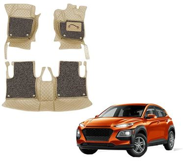 Picture of 7D Luxury Custom Fitted Car Mats For Hyundai Kona 2019 - Beige