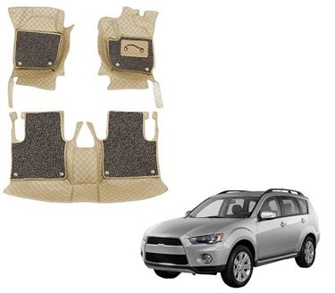 Picture of 7D Luxury Custom Fitted Car Mats For Mitsubishi Outlander 2010 - Beige