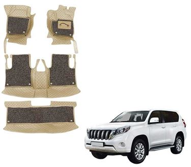 Picture of 7D Luxury Custom Fitted Car Mats For Toyota Land Cruiser - Beige