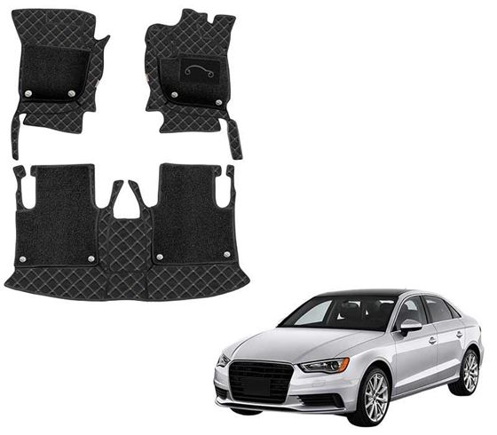 Picture of 7D Luxury Custom Fitted Car Mats For Audi A3 2019 - Black Beige