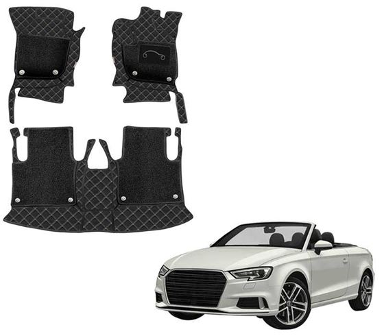 Picture of 7D Luxury Custom Fitted Car Mats For Audi A5 Cabriolet - Black Beige
