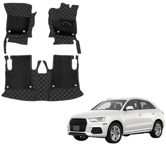 Picture of 7D Luxury Custom Fitted Car Mats For Audi Q3 - Black Beige