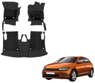 Picture of 7D Luxury Custom Fitted Car Mats For Volkswagen Polo - Black Beige