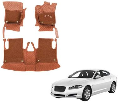Picture of 7D Luxury Custom Fitted Car Mats For Jaguar XF 2018 - Tan