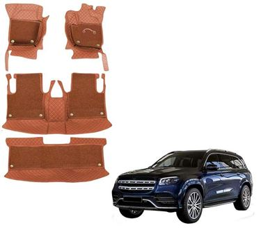Picture of 7D Luxury Custom Fitted Car Mats For Mercedes GLS 400d 4MATIC 2020 - Tan