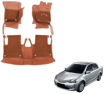 Picture of 7D Luxury Custom Fitted Car Mats For Toyota Etios - Tan