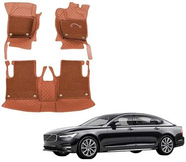 Picture of 7D Luxury Custom Fitted Car Mats For Volvo S90 - Tan