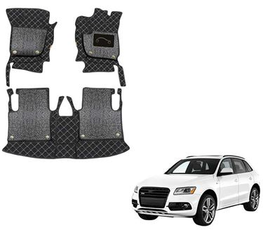 Picture of 7D Luxury Custom Fitted Car Mats For Audi Q5 - Black Silver