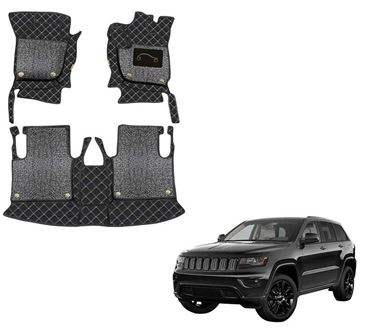 Picture of 7D Luxury Custom Fitted Car Mats For Jeep Grand Cherokee 2019 - Black Silver