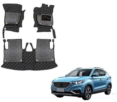 Picture of 7D Luxury Custom Fitted Car Mats For MG ZS EV 2020 - Black Silver