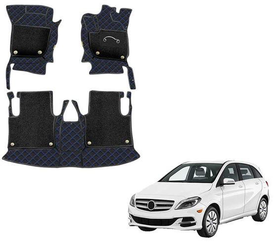 Picture of 7D Luxury Custom Fitted Car Mats For Mercedes B-Class - Black Blue