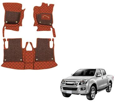 Picture of 7D Luxury Custom Fitted Car Mats For Isuzu DMAX - Tan Black